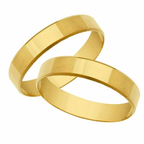 promoção par de alianças de ouro 18k casamento com 3mm 4gr