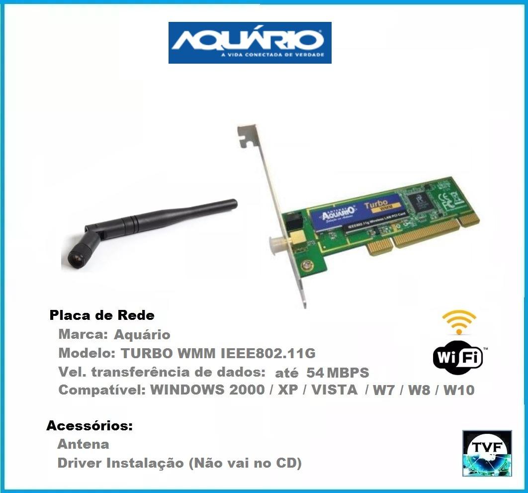 WIRELESS BAIXAR AQUARIO DRIVER PLACA PCI REDE