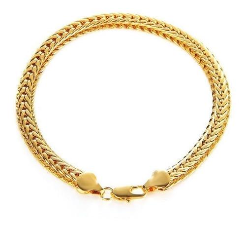 promoção pulseira 18k ouro gold filed 20,5 a 22cm k957