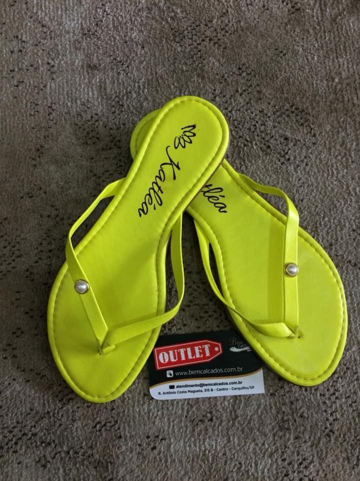 e10ee1f23 Promoção Rasteira sandalia Neon Outlet Bem Calçados - R  25
