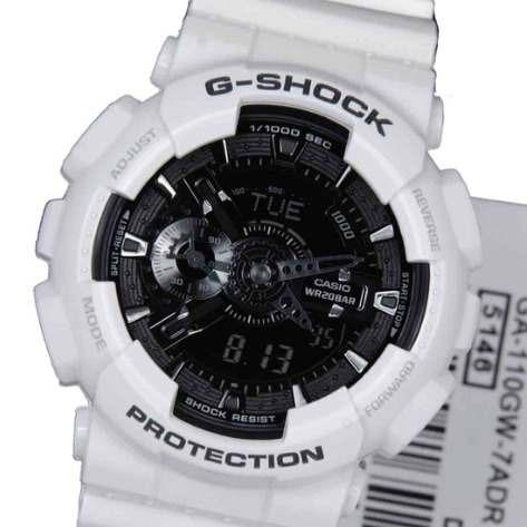 1fe101aaa6b Promoção! Relógio Casio G-shock Anadig Ga110 Branco - R  299
