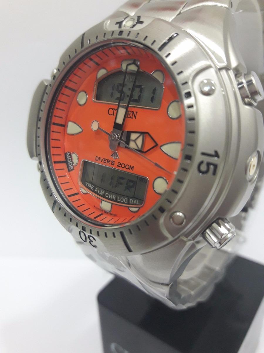 171d5b96789 promoção relógio citizen aqualand v. laranja tz10128j +frete. Carregando  zoom.