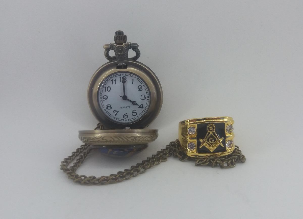 e27ff8a4d6e Promoção Relógio De Bolso Maçon E Anel Maçon - R  120