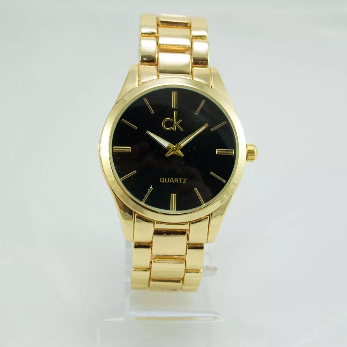 9362738c143 promoção relógio feminino ck luxo dourado analógico. Carregando zoom.