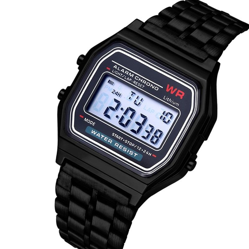 0cd0a9136ee promoção relógio feminino digital dourado prata barato retrô. Carregando  zoom.