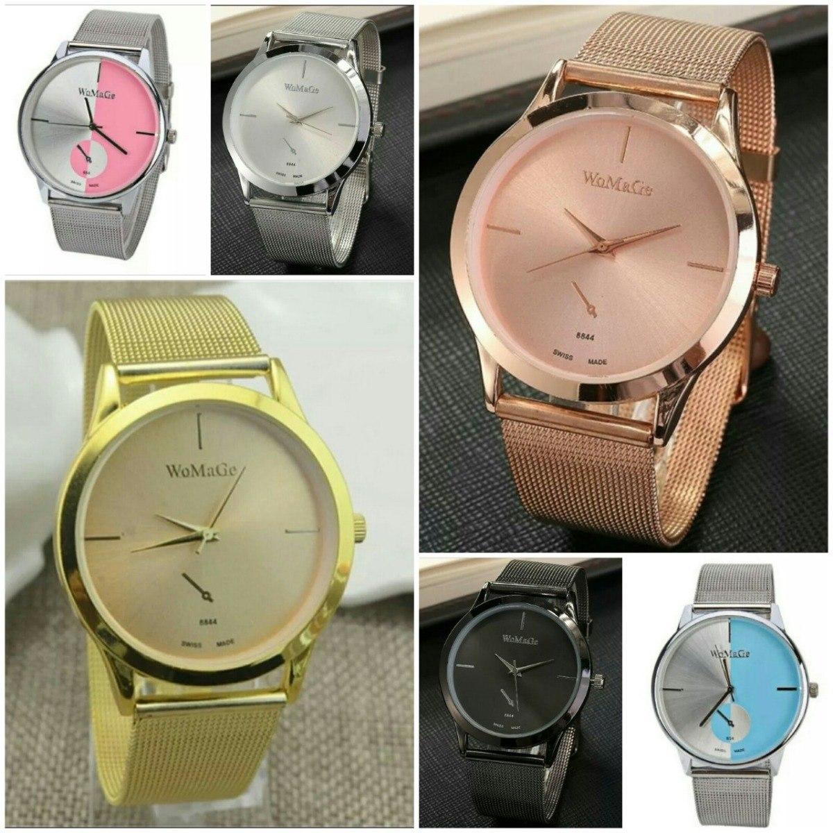 e698610f612 promoção relógio feminino dourado prata original barato. Carregando zoom.