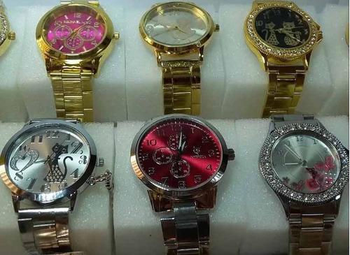 promoção relógio feminino lote c/ 5pcs atacado p/ revend