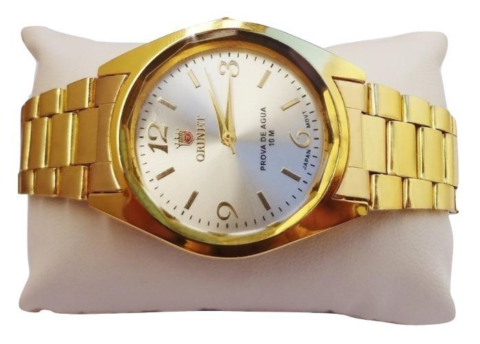 00628e0d35a53 Promoção Relógio Feminino Oniret Dourado + Brinde - R  120,00 em ...
