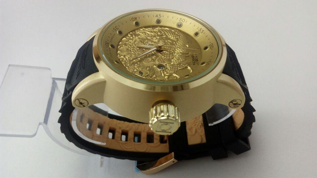 dc3d2ebd523 promoção relógio invicta yakuza s1 dragon preto dourado. Carregando zoom.