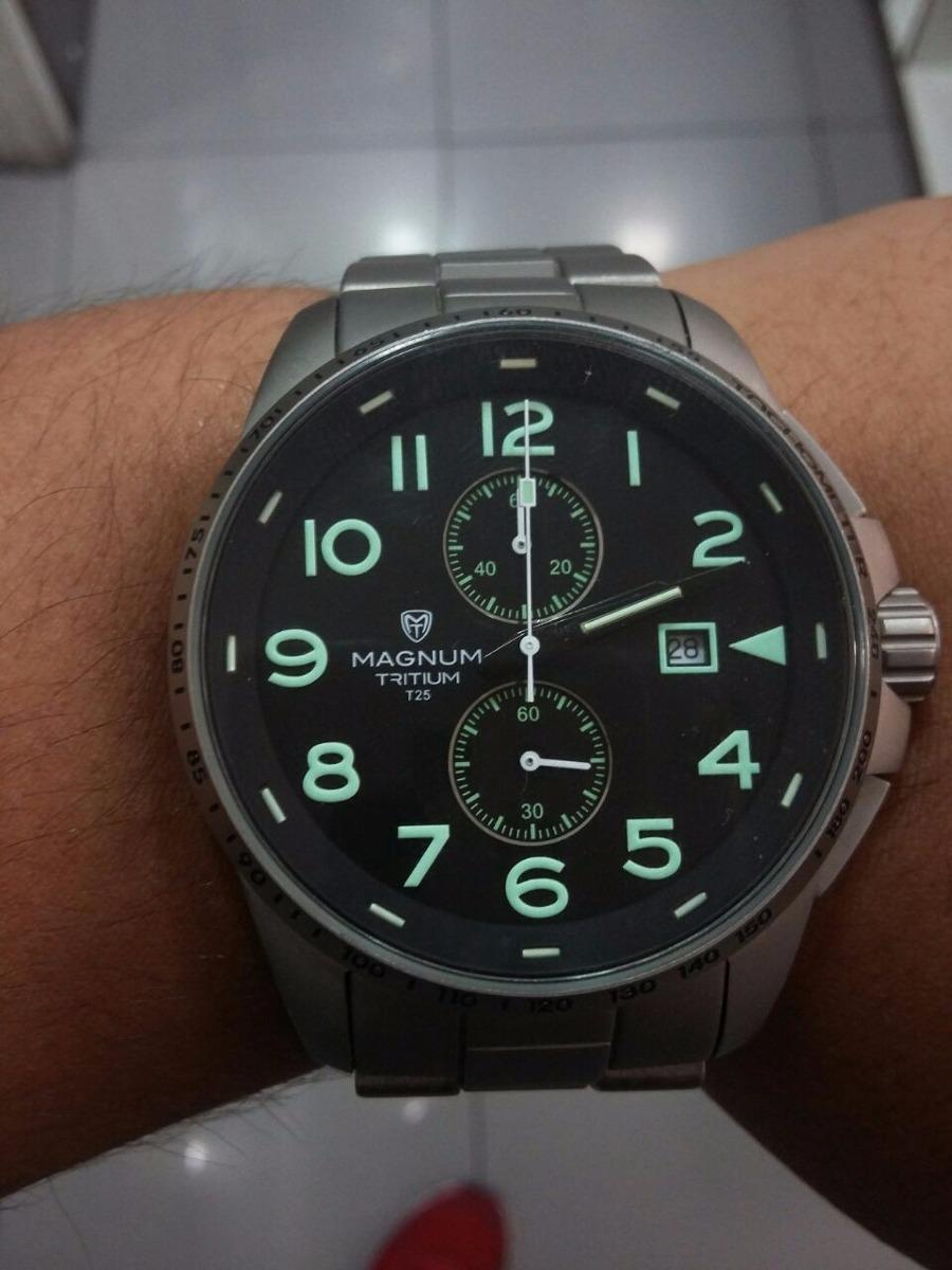 202e2668a5b promoção relógio magnum titanium mt30099t cronógrafo + frete. Carregando  zoom.