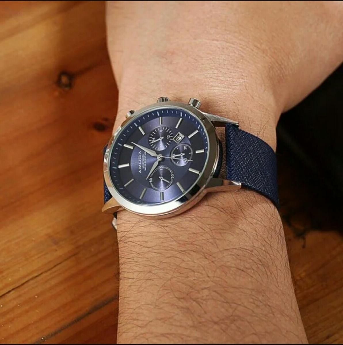 5ba350e19c4 promoção relógio masculino amuda luxo original com estojo. Carregando zoom.