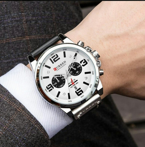 promoção relógio  masculino curren original funcional barato