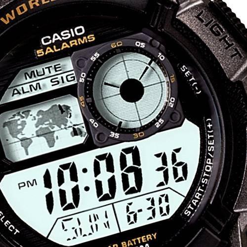 c8668bee2ab Promoção-relógio Masculino Esp Horário Mundial Luz Led Casio - R ...