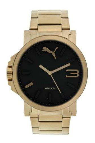 promoção relógio puma ultrasize dourado e preto   - original