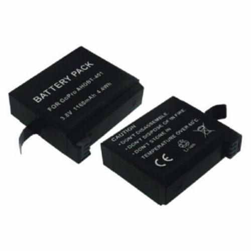 promoção renato gopro - 02 baterias para hero 3,3+ e 4