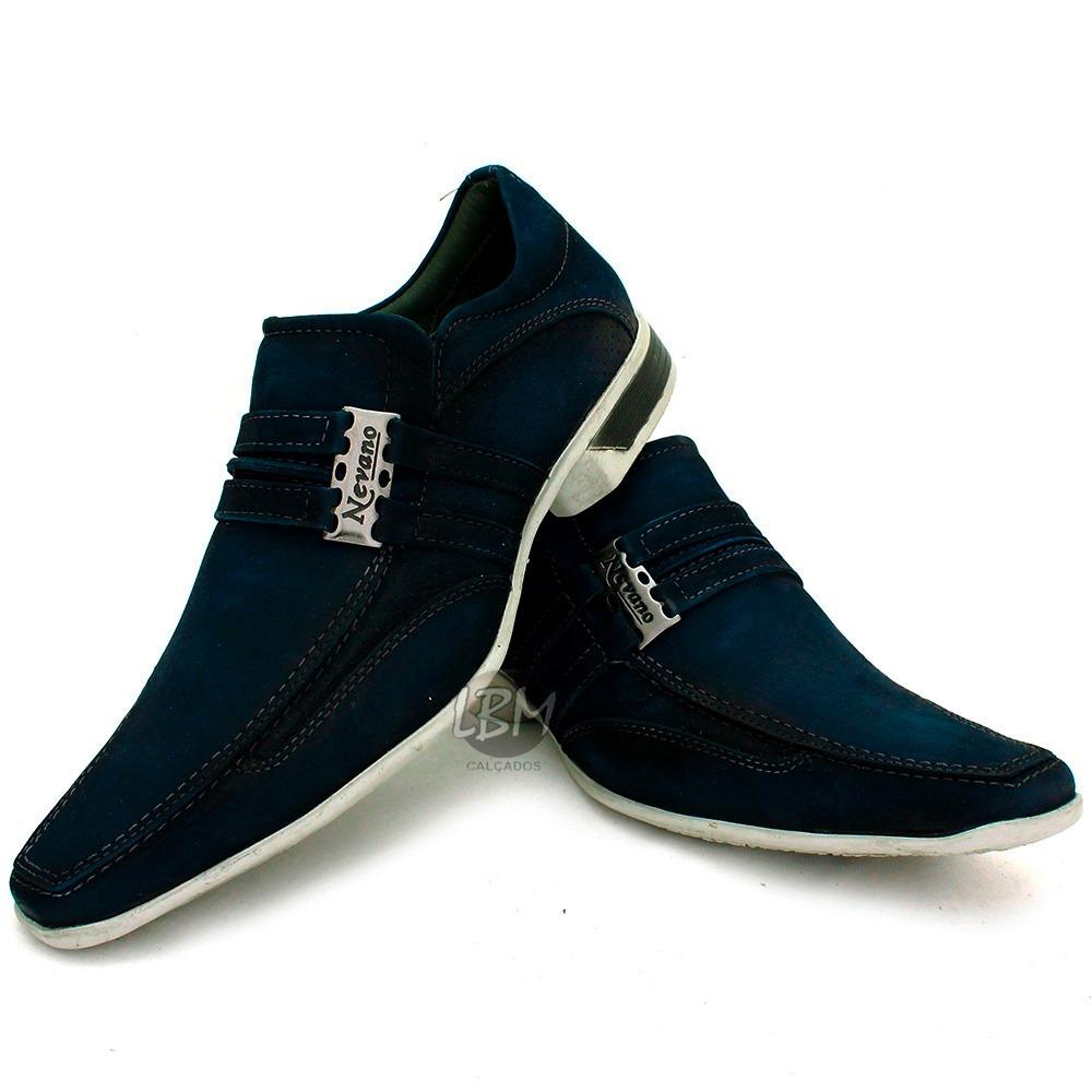 f49730989 promoção sapato esporte fino masculino azul 100%couro lbm. Carregando zoom.