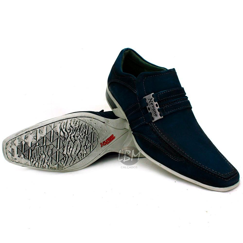 36e13cab8 promoção sapato esporte fino masculino azul 100%couro lbm. Carregando zoom.