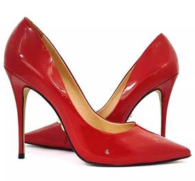 45dce0f940 Scarpin Mr.foot Em Couro Feminino - Scarpins e Plataformas no Mercado Livre  Brasil