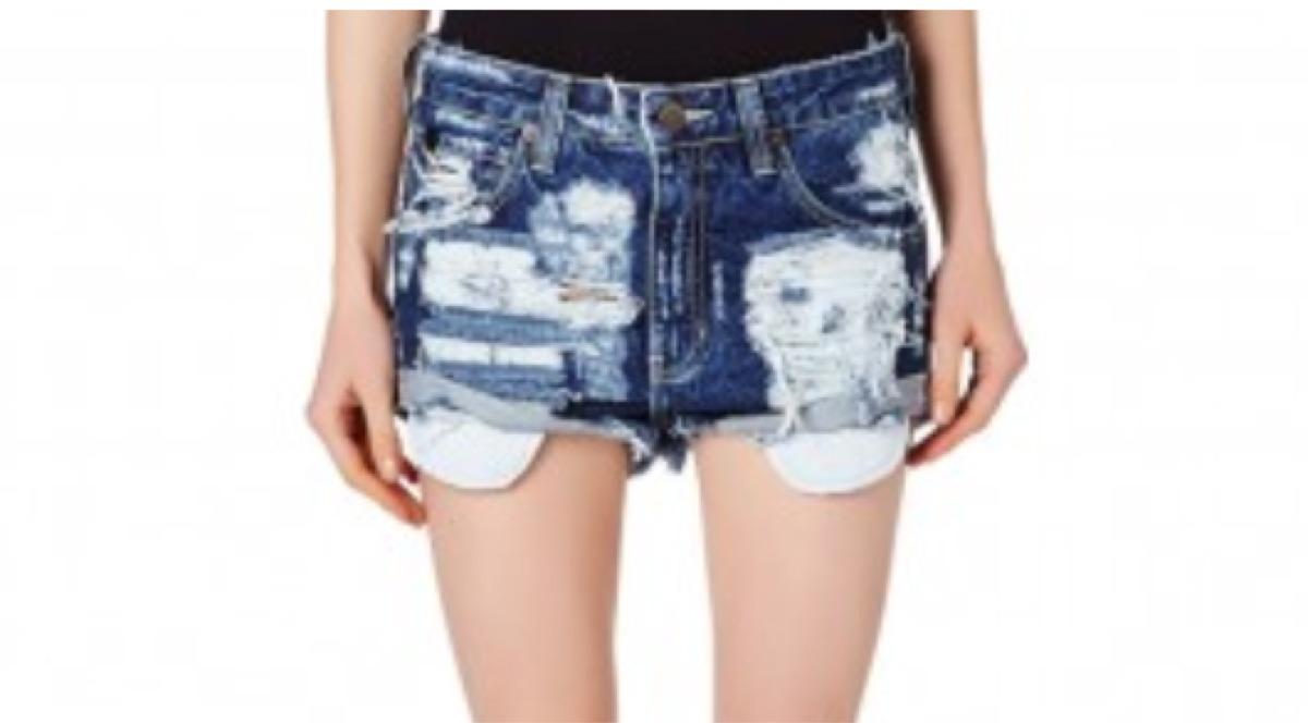 Short jeans le lis blanc