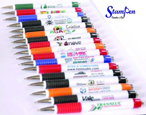 promoção! só r$0,89 un canetas personalizadas  arte colorida