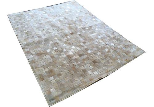 promoção! tapete de couro bege claro 1,50x2,0 pronta entrega