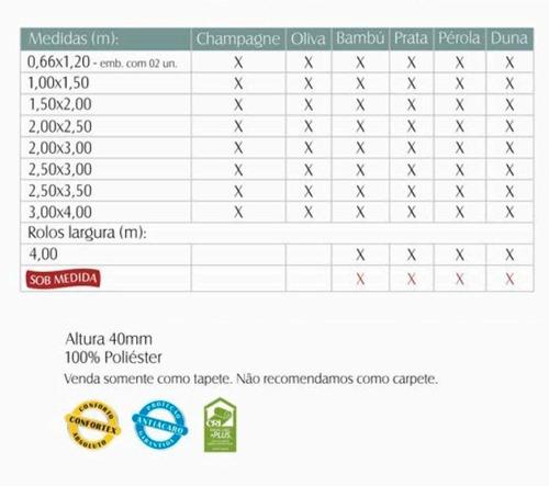 promoção tapete galant premium duna 250x350 peludo felpudo