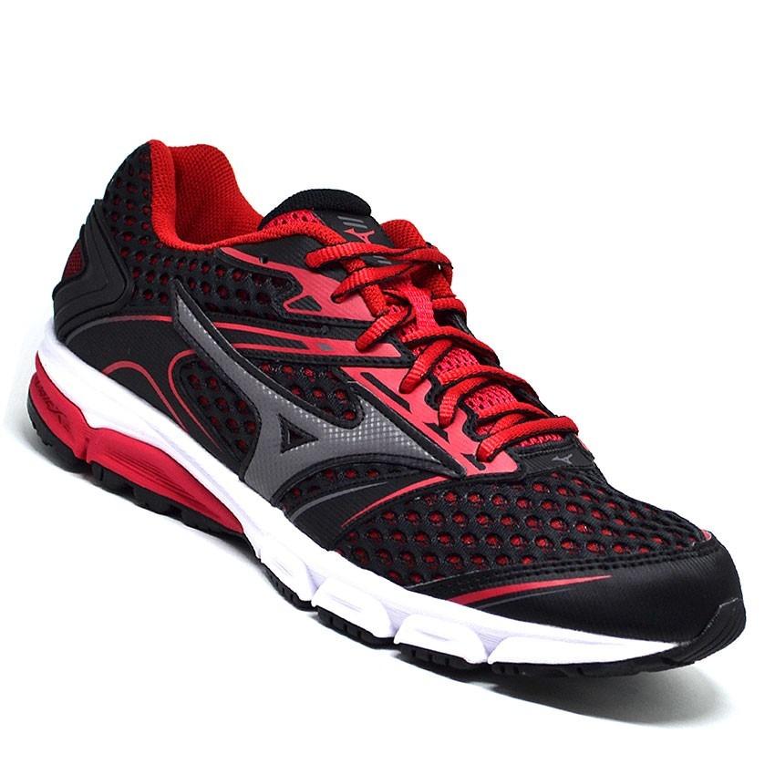 ca52535bf promoção tênis masculino mizuno iron preto vermelho original. Carregando  zoom.
