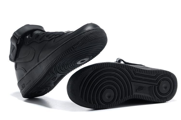 Promoção Tênis Nike Air Force 1 Mid Preto Feminino Original! - R ... 2ec22df76bb8f