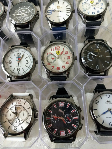 f5d54021a8a Promoção Top !! Kit 10 Relógio Masculinos Multi Marcas - R  169
