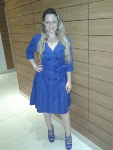 promoção: vestido azul