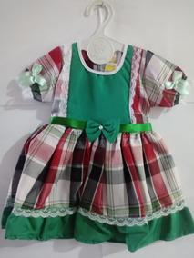 e12e854b452c Vestido Junino Bebe 3 Meses no Mercado Livre Brasil