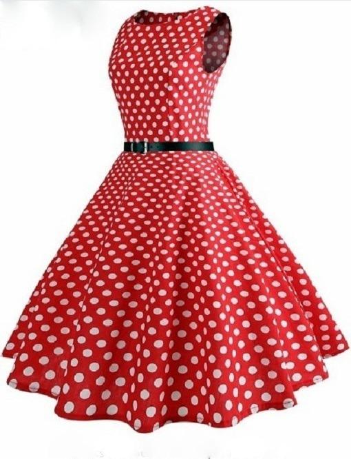 72300f067 Promoção! Vestido Bolinhas Liso Anos 60 Pinup Vintage Retrô - R$ 99 ...