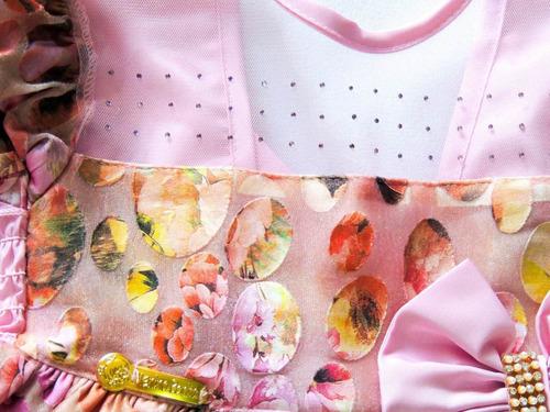 promoção! vestido de festa flores com laço-frete grátis!