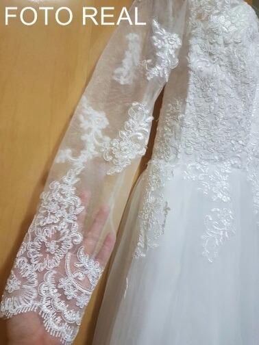 fdfcfe6af Promoção Vestido De Noiva Casamento Manga Longa  fli-58  - R  940