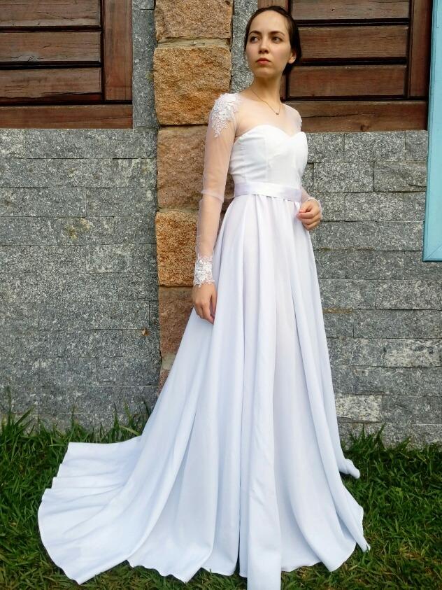 5de2bef859 Promoção Vestido De Noiva Longo Sob Medida