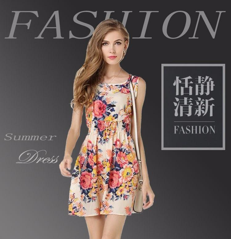 2ea64bb1e5 Promoção Vestido Feminino Verão Curto Florido - Importado - R  24
