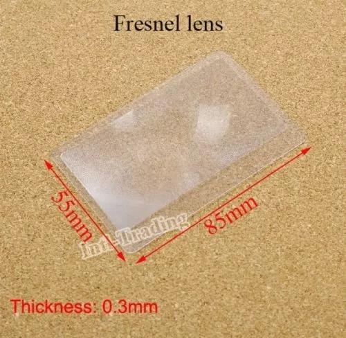 promoção,10pçs! lupa lente de aumento plástica formato catão