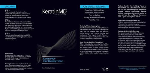 promoção2 unidades de fibra capilar keratin md importado 28g