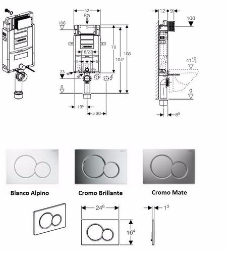 Promokit dise o keramag geberit sanitario pulsador - Pulsador de cisterna ...