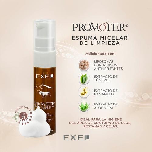 promoter espuma micelar limpieza liposomas pestañas exel