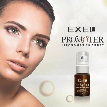 promoter liposomas spray crecimiento cejas pestañas exel