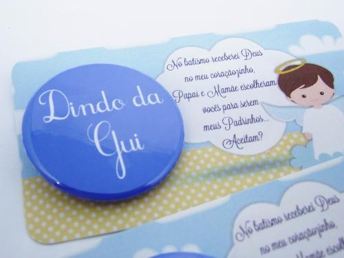 promovida dinda e dindo cartão convite madrinha de batizado