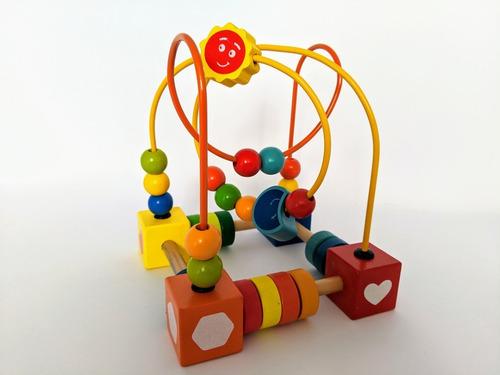 prono laberinto didactico de madera colourful bead maze