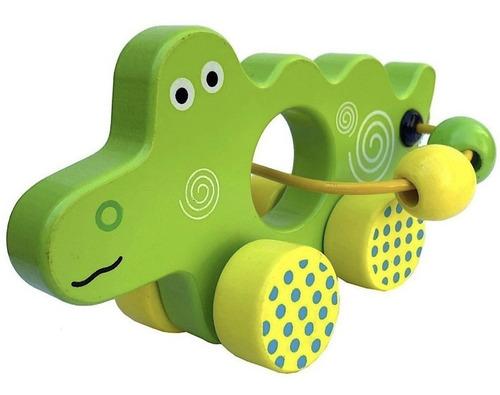 prono rodante madera auto animales didáctico bebés niños
