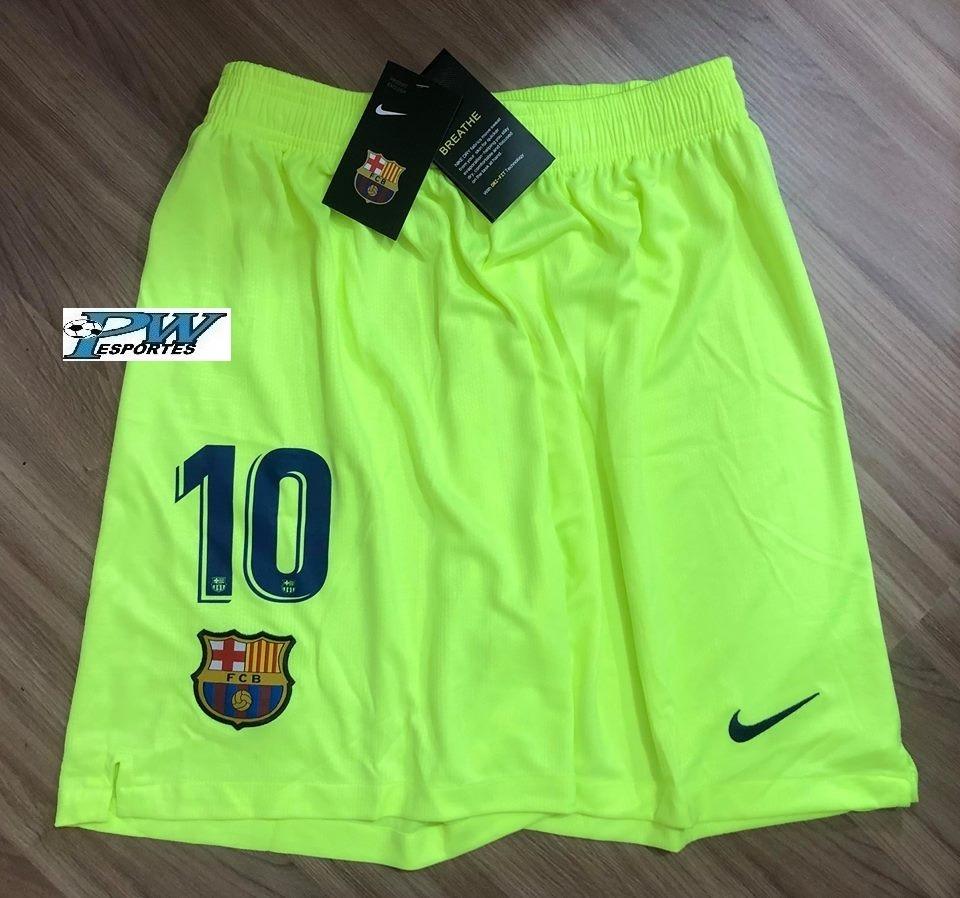 81f947b0b15ce Pronta Entrega  Calção Barcelona Nike 2019  10 Messi - R  99