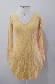 05949c3f09 Vestido De Cassa Bordada Outras Cores - Vestidos Femininas Amarelo ...