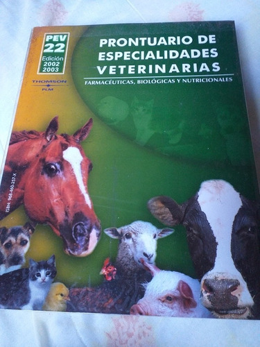 prontuario de especialidades veterinarias, thomson plm.