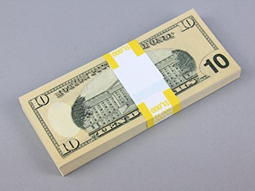 Prop Money Real Looking New Style Copy $ 10s Full Print