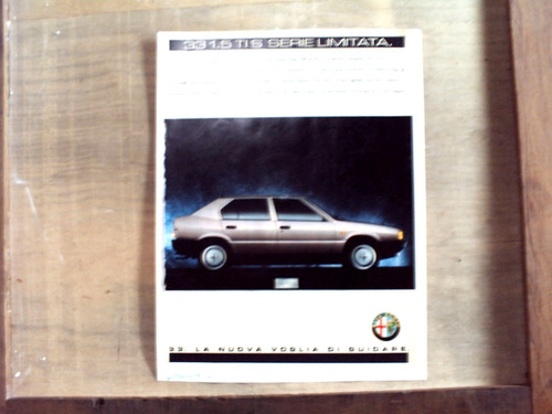 propaganda alfa romeo 33 1.5 ti s. 1989