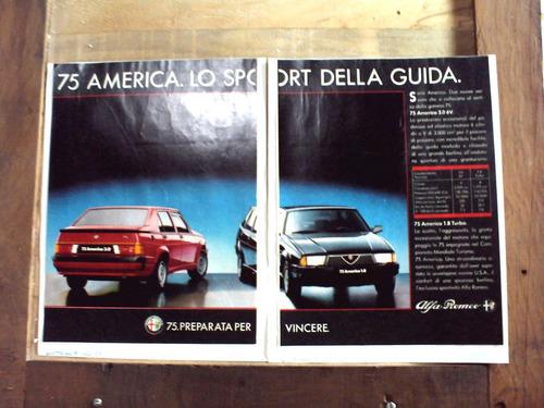 propaganda alfa romeo 75 america 1987